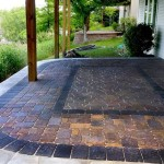 Cement Patio With Pavers