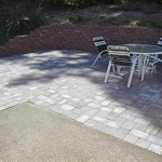 Concrete Patio Extension With Pavers