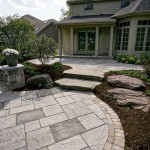 Large Stone Paver Patio
