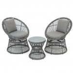 Monaco 2 Seater Rattan Swivel Patio Furniture Set
