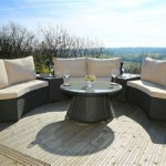 Monaco Rattan Patio Lounge Set