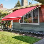 Outsunny 10 X 8 Patio Manual Retractable Sun Shade Awning