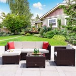 Wright 6 Piece Wicker Patio Conversation Furniture Set